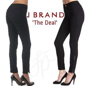 J Brand The Deal skinny jeans ankle zip black 26